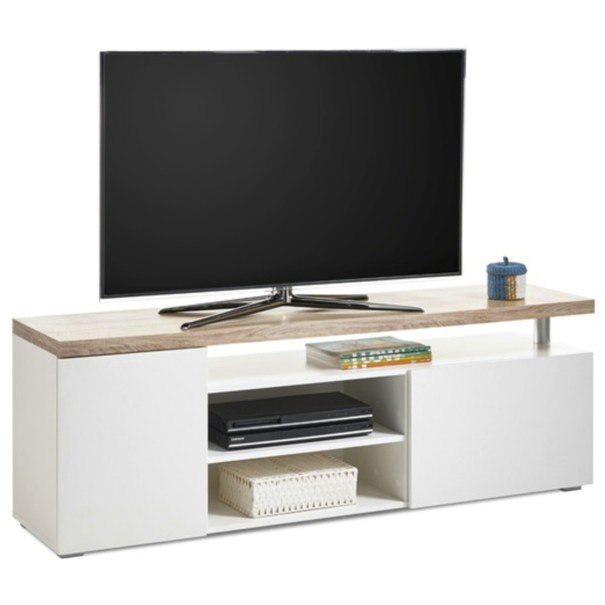 TV stolek VIEW 7 dub sonoma/bílá 1