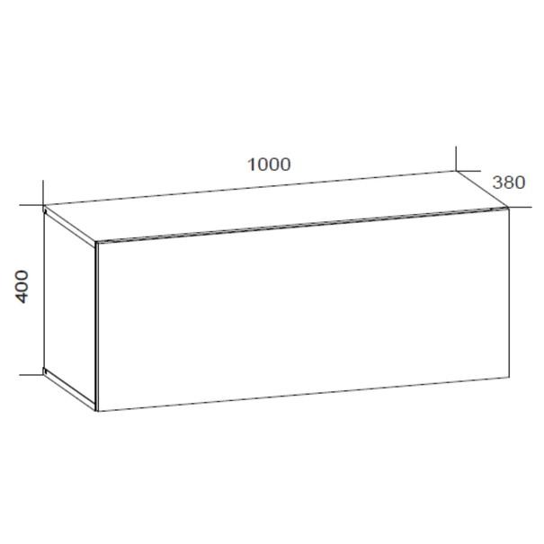 TV komoda VIVO VI 1 LED 100 cm, bílá vysoký lesk 6