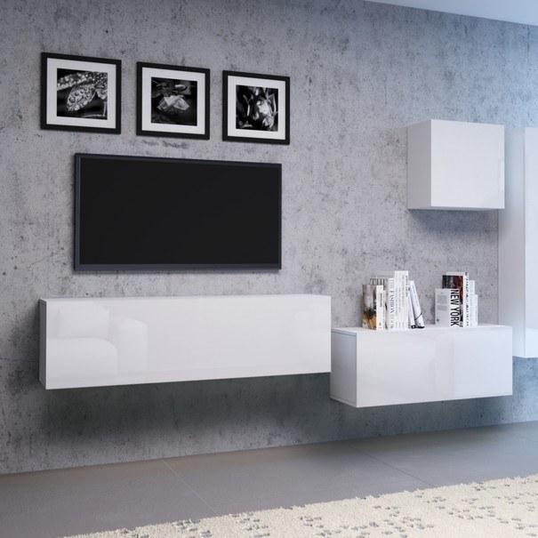 TV komoda  VIVO VI 1 100cm, bílá, vysoký lesk 2
