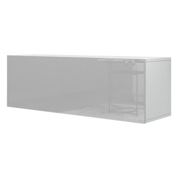 Sconto TV komoda VIVO VI 2 LED 120 cm, bílá vysoký lesk - nábytek SCONTO nábytek.cz