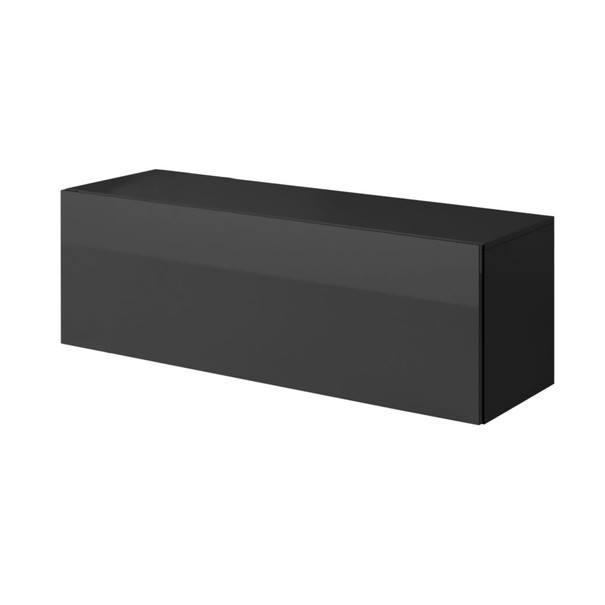 Sconto TV komoda VIVO VI 2 LED 120 cm, černá - nábytek SCONTOnábytek.cz