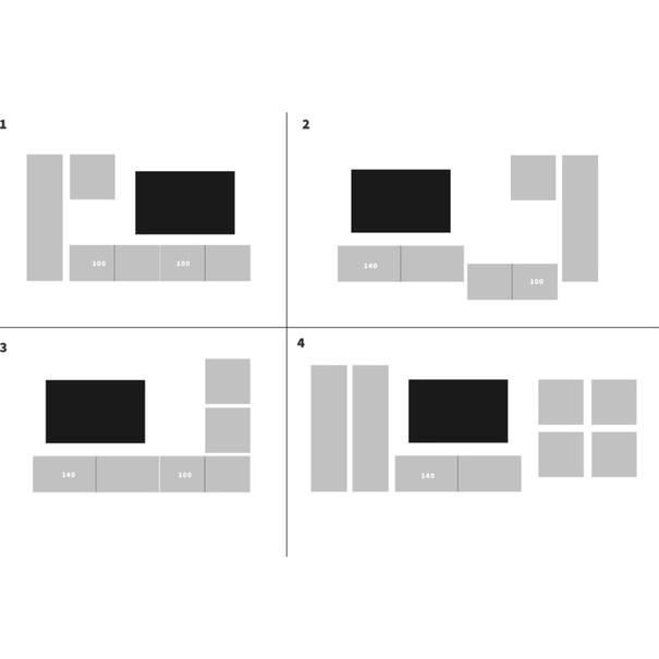 TV komoda VIVO VI 2 LED 120 cm, bílá vysoký lesk 4