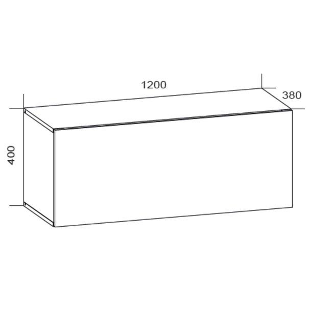 TV komoda VIVO VI 2 LED 120 cm, bílá vysoký lesk 7