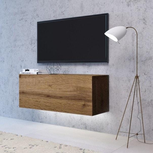 TV komoda VIVO VI 2 LED 120 cm, dub wotan 2
