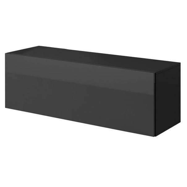 Sconto TV komoda VIVO VI 2 120 cm, černá - nábytek SCONTO nábytek.cz