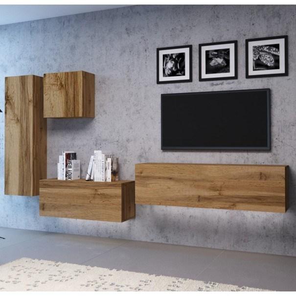 TV komoda VIVO VI 3 LED 140 cm, dub wotan 4