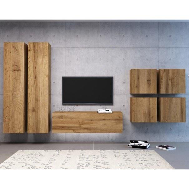 TV komoda VIVO VI 3 LED 140 cm, dub wotan 5