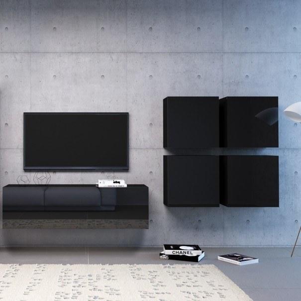 TV komoda VIVO VI 3 140 cm, černá 2
