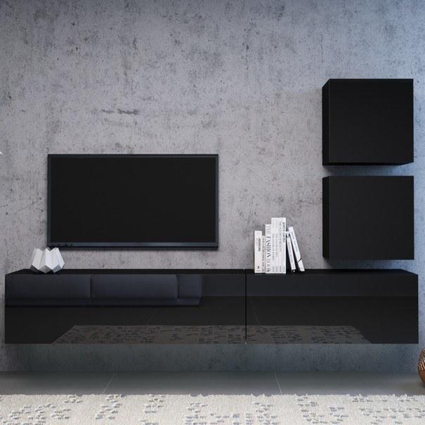 TV komoda VIVO VI 3 140 cm, černá 3