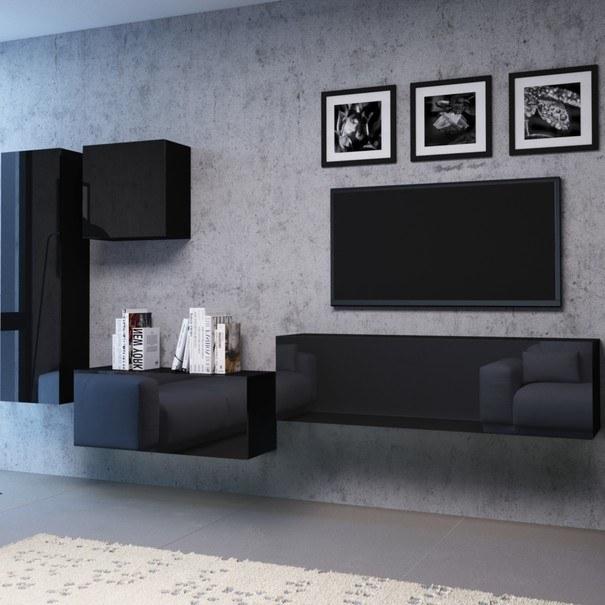 TV komoda VIVO VI 3 140 cm, černá 4