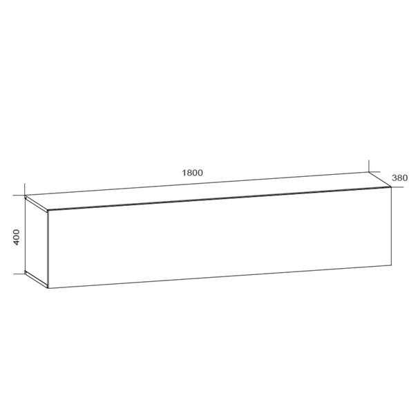 TV komoda VIVO VI 4 180 cm, bílá vysoký lesk 5