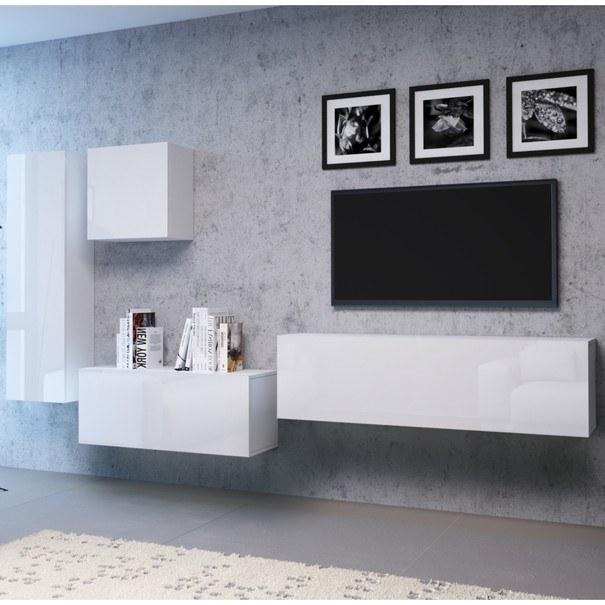 TV komoda VIVO VI 4 180 cm, bílá vysoký lesk 2