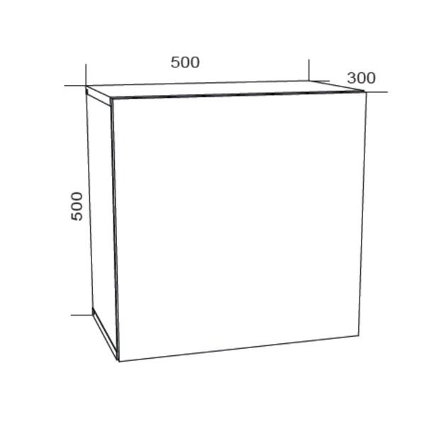 Závěsná skříňka VIVO VI 5 bílá, vysoký lesk 6