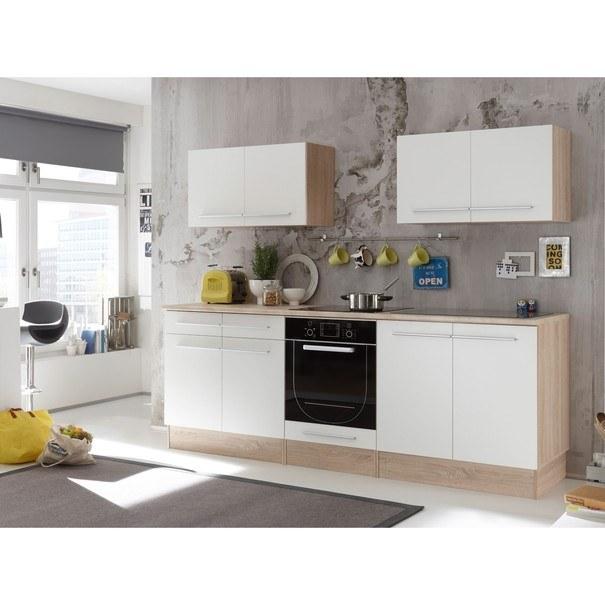 Kuchyňská linka WELCOME X 240 cm, dub sonoma/bílá matná 2