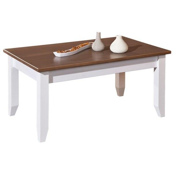 Konferenční stolek WESLEY borovice bílá/hnědá 2