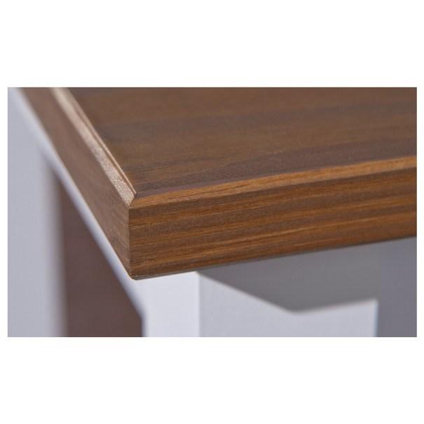Konferenční stolek WESLEY borovice bílá/hnědá 4