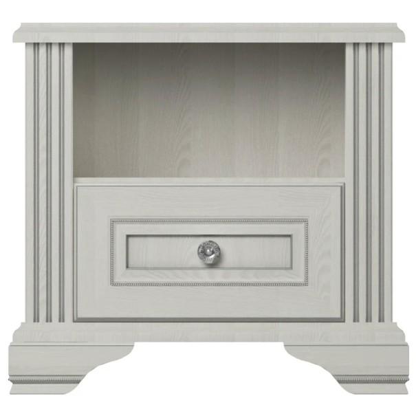 Nočný stolík WHITE  dekor snežný jaseň/sivá 1