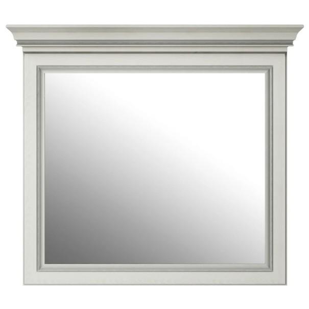 Zrcadlo WHITE  sněžný jasan/šedá 1