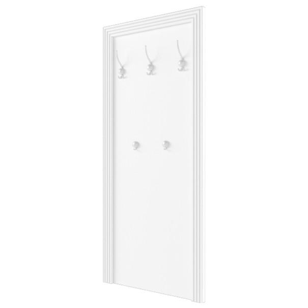 Nástěnný věšák WHITE  dekor sněžný jasan/šedá 1