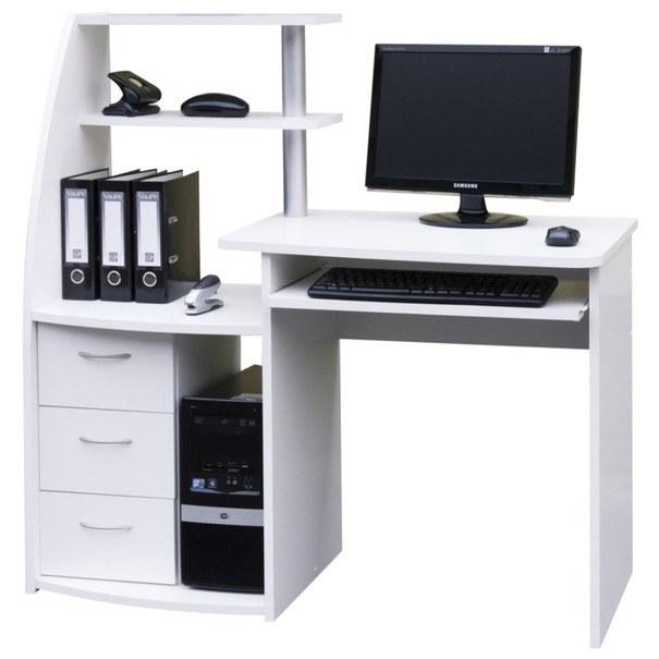 Sconto PC stůl WIKING bílá - nábytek SCONTO nábytek.cz