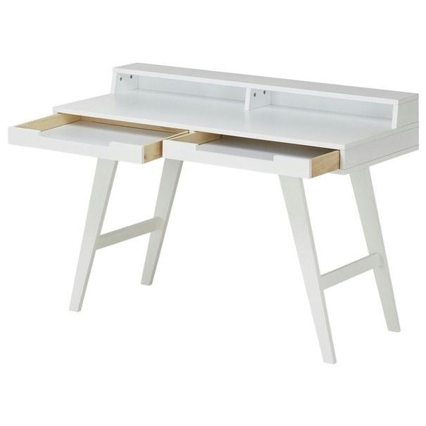 Písací stôl WOLGA biela 2