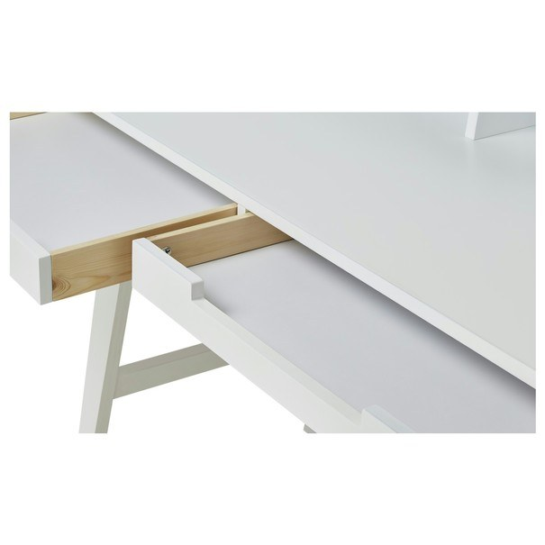 Písací stôl WOLGA biela 3