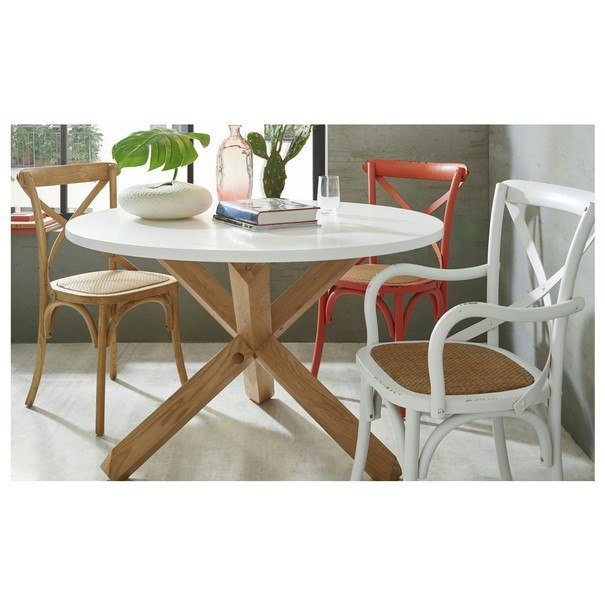 Jedálenská stolička XABI biela 2