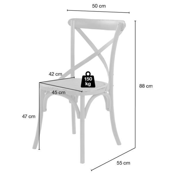 Jedálenská stolička XABI biela 10