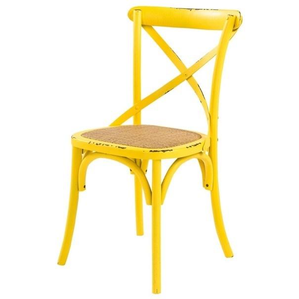 Jedálenská stolička XABI žltá 1
