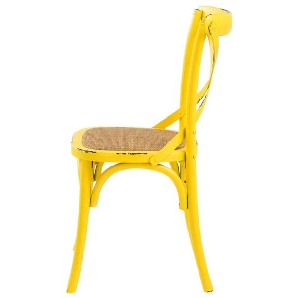Jedálenská stolička XABI žltá 3