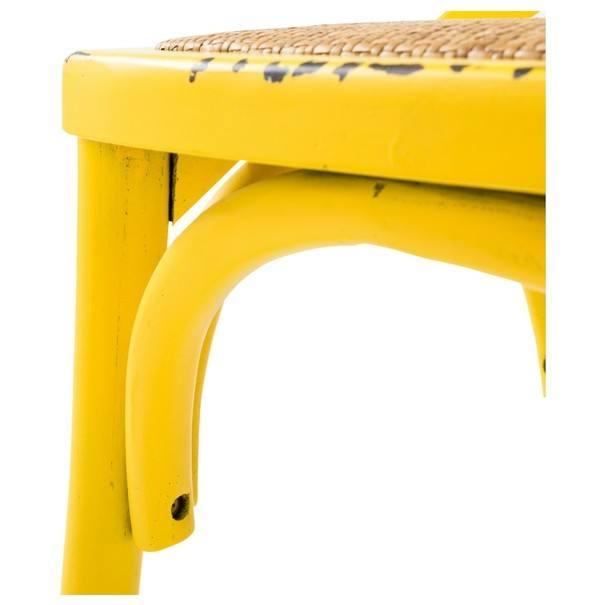 Jedálenská stolička XABI žltá 5