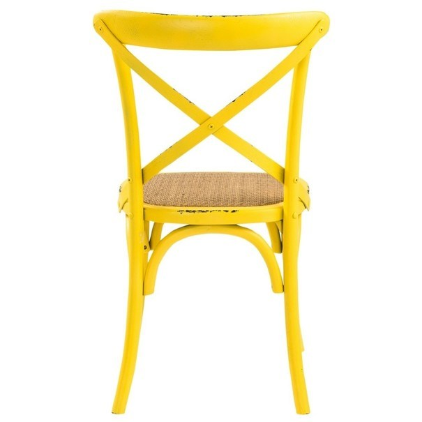 Jedálenská stolička XABI žltá 8