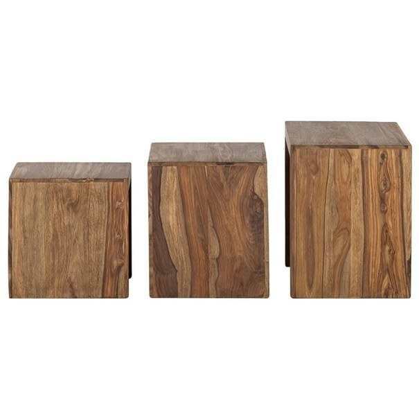 Přístavné stolky YOGA palisandr, 3 ks 4