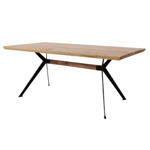 Jídelní stůl  YOGA přírodní palisandr/černá 1