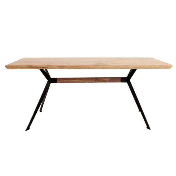 Jídelní stůl  YOGA přírodní palisandr/černá 3