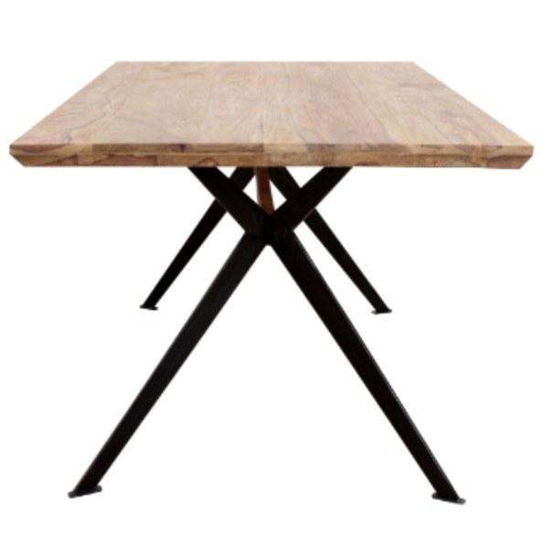 Jídelní stůl  YOGA přírodní palisandr/černá 4