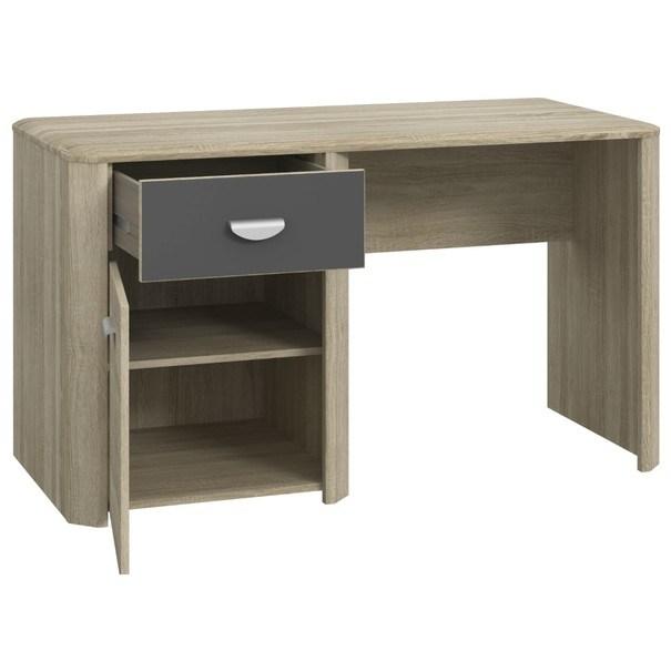 Písací stôl YOOP dub sonoma/antracit 3