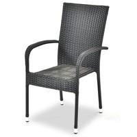 Zahradní židle ACAPULCO černá 1
