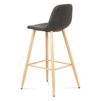 Barová židle ADRIANNE šedá/dub 4