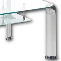 Konferenční stolek ALBERTO čiré sklo/kov 3