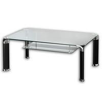 Konferenční stolek ALBERTO čiré sklo/černá 1