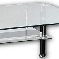 Konferenční stolek ALBERTO čiré sklo/černá 2