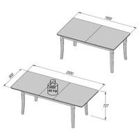 Jedálenský stôl ALEXANDRIA 41 biely dub 2