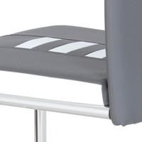 Jedálenská stolička ANASTASIA sivá/biela 3
