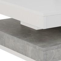 Konferenční stolek ANDY bílá/beton 4