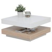 Konferenční stolek ANDY bíla/dub sonoma 1