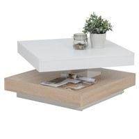 Konferenční stolek ANDY bíla/dub sonoma 2