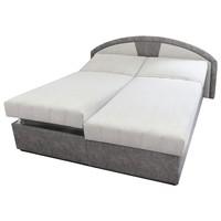 Polohovacia posteľ  ANETA sivá, 180x200 cm 1