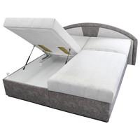 Polohovacia posteľ  ANETA sivá, 180x200 cm 2