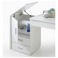 Pracovní stůl na šicí stroj ANGERS  bílá 3